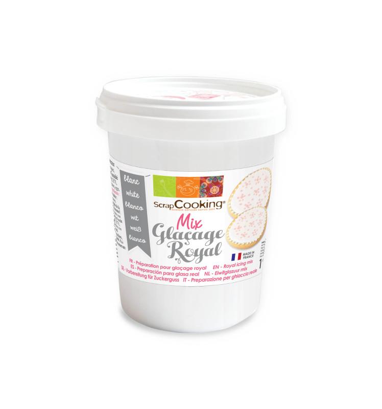 Pot mix glaçage royal blanc