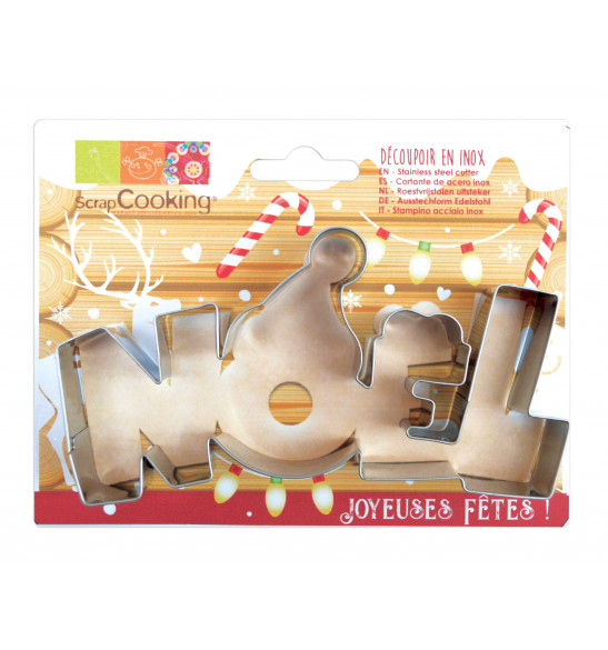 "Stainless steel ""Noël"" cookie cutter"