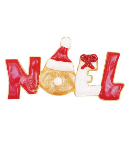 Découpoir inox mot Noël