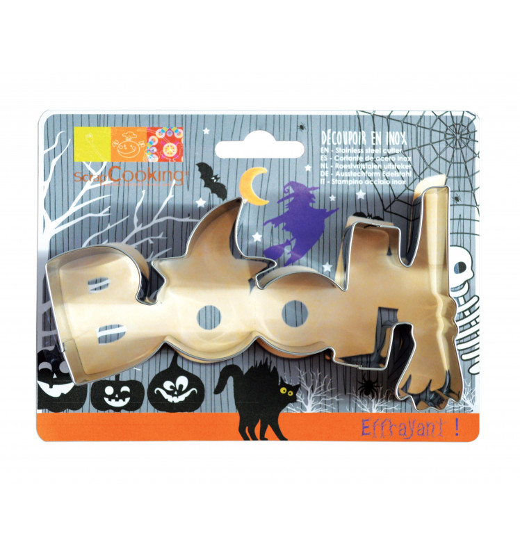 "Stainless steel ""Booh"" cookie cutter"