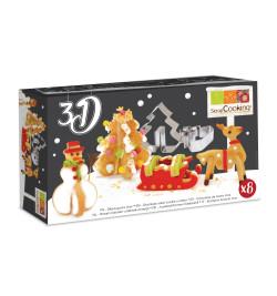 2007 Découpoirs inox 3D Noël