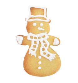 Réalisation biscuit bonhomme de neige