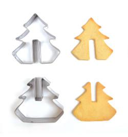 Détail et réalisation avec découpoirs inox 3D Noël