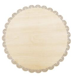 5157 Plat dentelle rond bois 29 cm