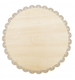 Round wood cake base with...