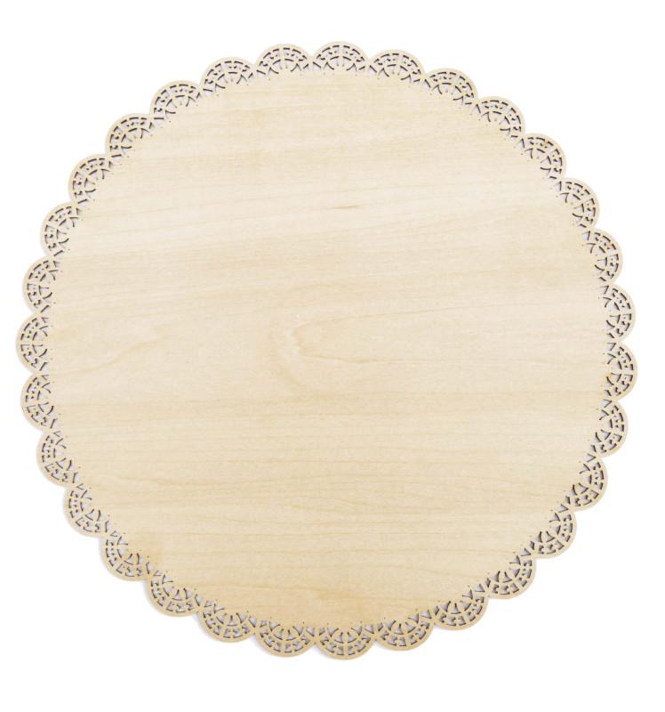 Plat dentelle rond bois 29 cm