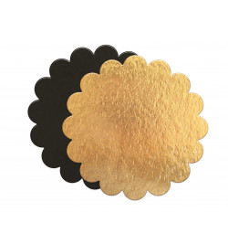 5 thin gold/black cake...