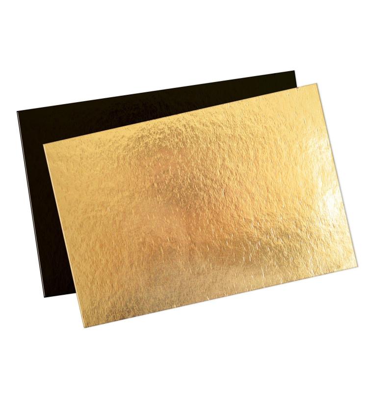 5 supports gâteaux fins 20 x 30 cm or/noir