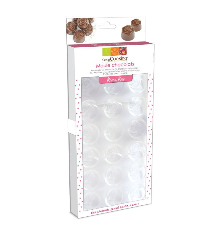 Moule rigide chocolats roses