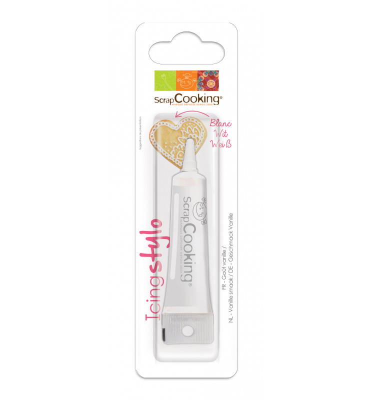 Icing stylo blanc goût vanille