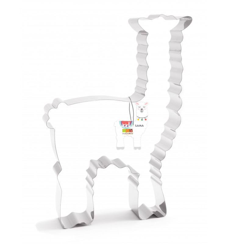 XXL Lama cookie cutter mould