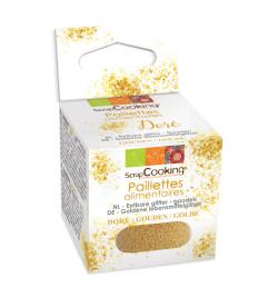 Paillettes alimentaires dorées 5 gr réf.4024
