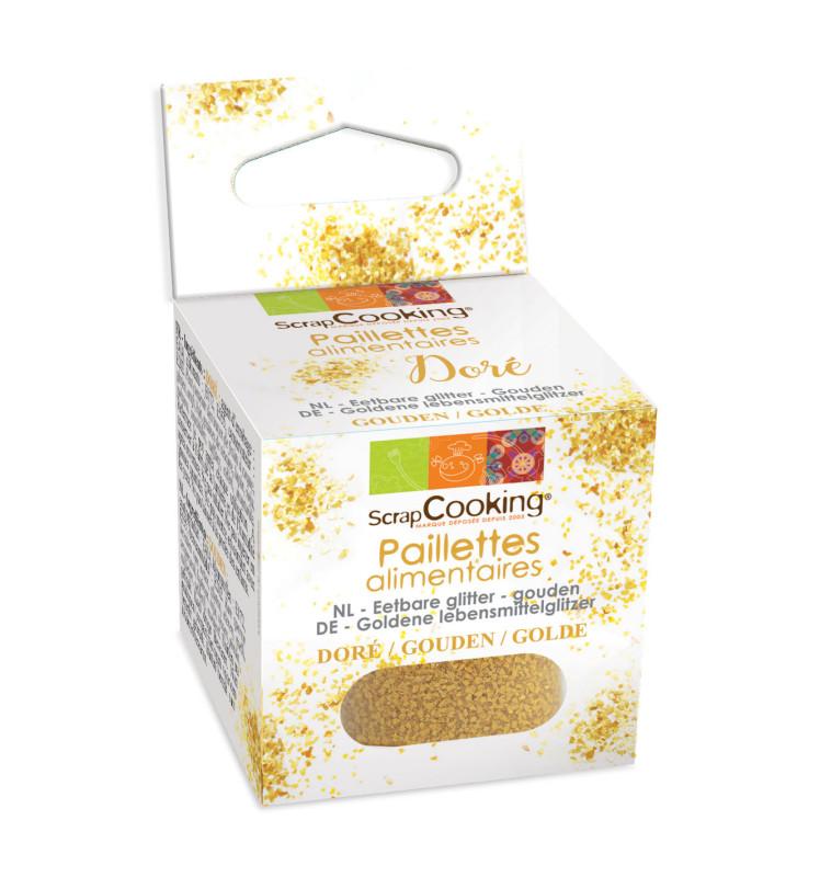 Paillettes alimentaires dorées 5 gr