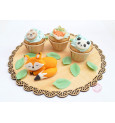 Animal-themed sweet scenery decorations