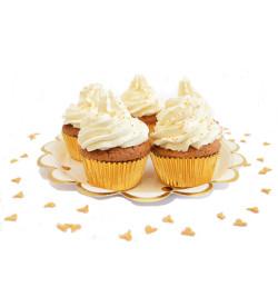 Cupcakes caissettes dorées