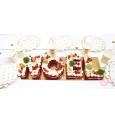 Noel alphabet cake