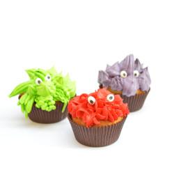 Cupcakes monstres avec décosucres yeux!