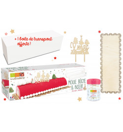 Kit bûche de Noël wood WEB-51