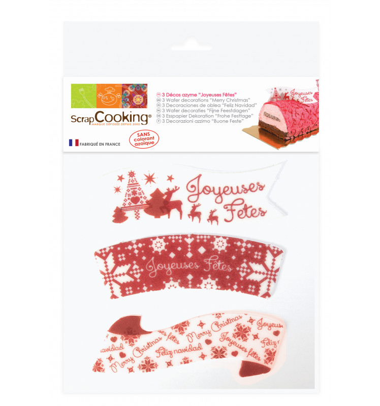 Happy Holidays edible wafer cake toppers