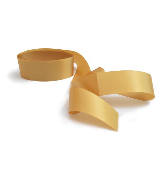 Gold satin ribbon H 4 cm X 2m