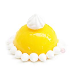 Réalisation glaçage miroir jaune réf.4617
