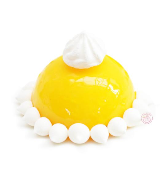 Glaçage miroir jaune