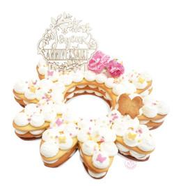 Gâteau fleur Nature cake réf.3910