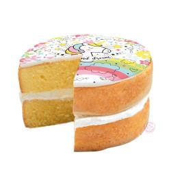 Réalisation gâteau licorne réf.7277