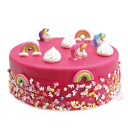 Réalisation gâteau licorne avec réf.7274