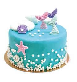 Réalisation gâteau sirène avec réf.7275
