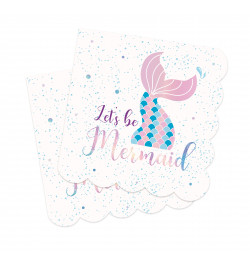 20 Mermaid napkins