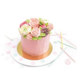 Idée réalisation gâteau fleurs avec réf.4630
