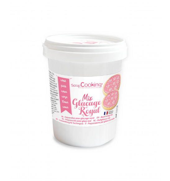 Pot mix glaçage royal rose