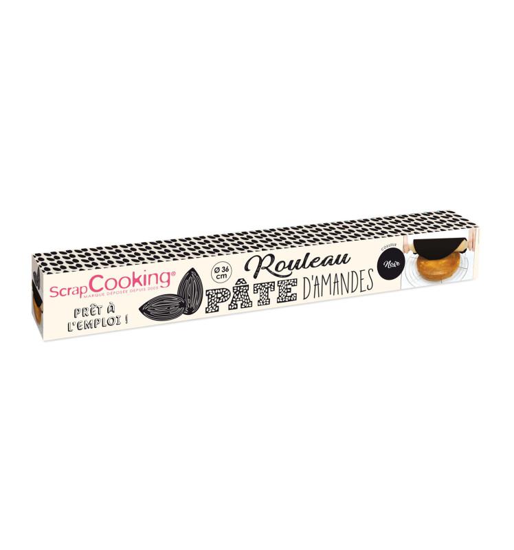 Rouleau pâte d'amandes noire Ø 36 cm