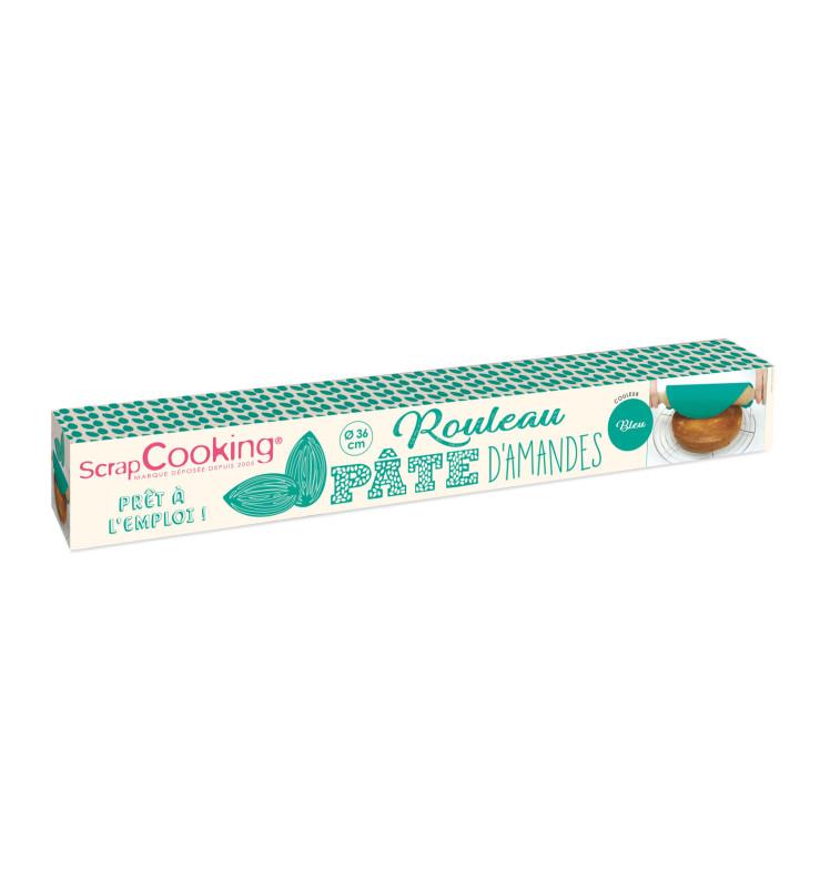 Rouleau pâte d'amandes bleue Ø 36 cm