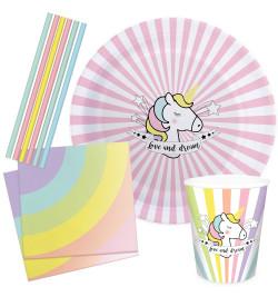 Kit vaisselle Licorne Party