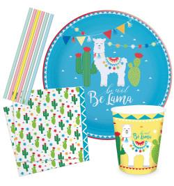 Kit vaisselle Lama Party