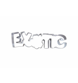 Découpoir inox mot Exotic réf.1958
