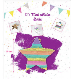 DIY mini piñata étoile multicolore