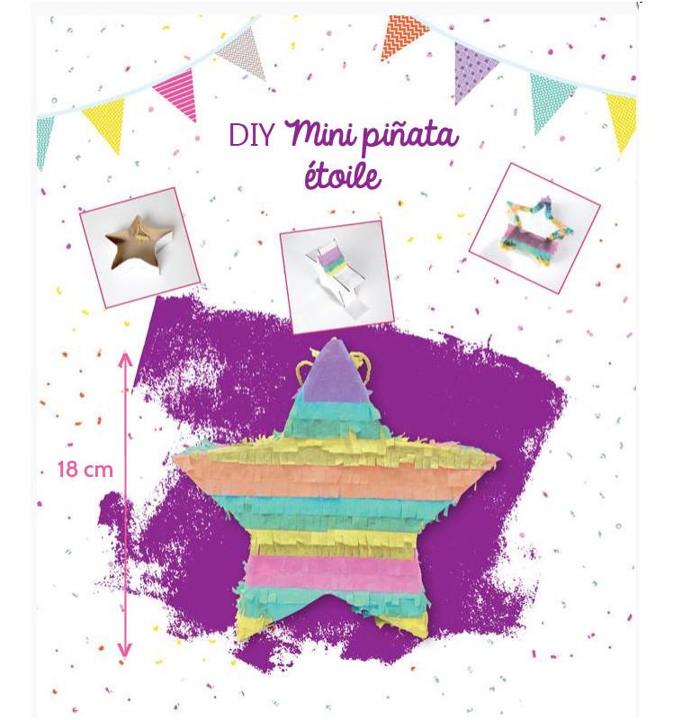 DIY mini piñata étoile multicolore