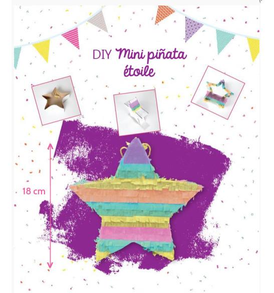 Mini multicolored star piñata