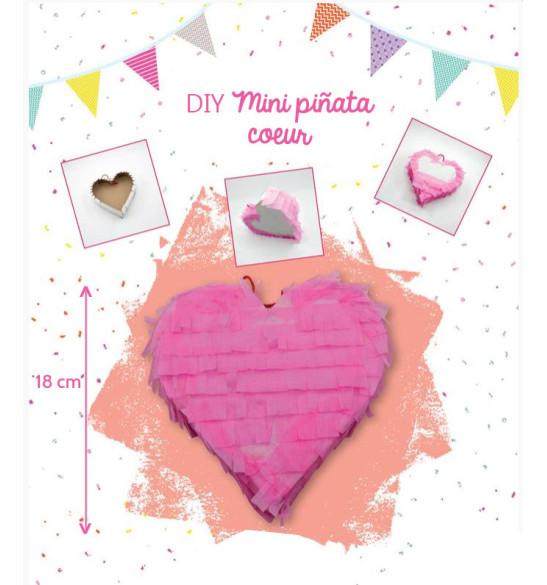 DIY mini piñata cœur rose