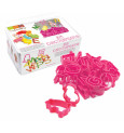 """Metal tin containing 36 plastic cookie cutters """"ABC…, animals,..."""""""