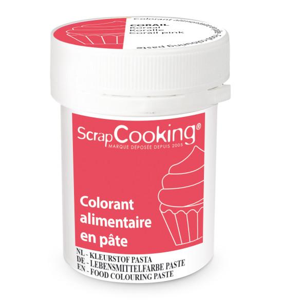 Colorant alimentaire en pâte corail 20g
