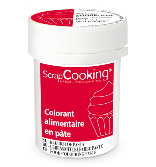 Food colouring paste 20g - Poppy red