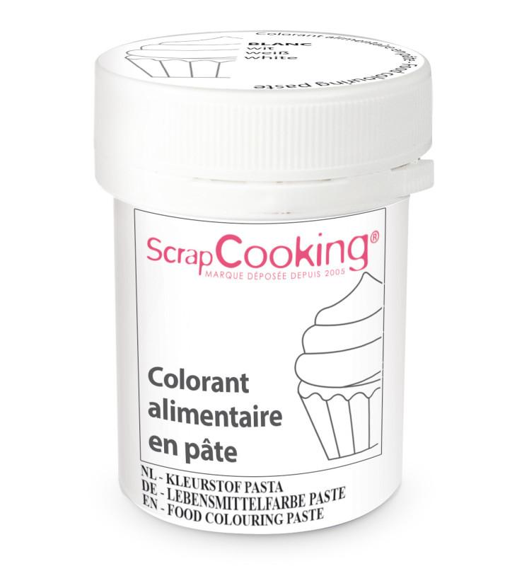 Colorant alimentaire en pâte blanc 20g