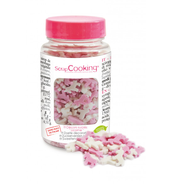 Pot of unicorn sugar sprinkles 50g