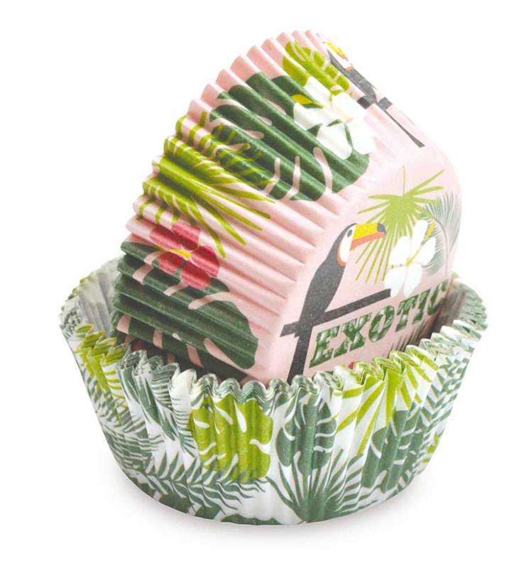 Caissettes Tropical +/- 36