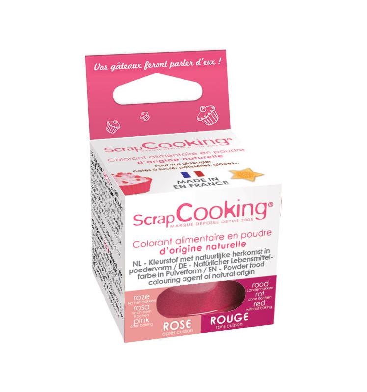 Colorant alimentaire en poudre d'origine naturelle rouge