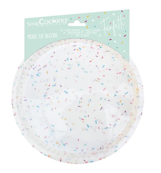 Moule à tarte silicone 22 cm Funfetti